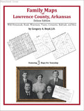 Family Maps of Lawrence County, Arkansas (Paperback book cover)
