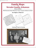 Family Maps of Nevada County, Arkansas (Paperback book cover)