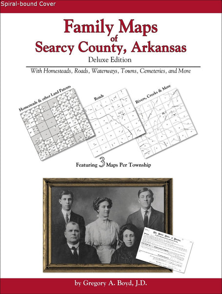 Family Maps of Searcy County, Arkansas (Spiral book cover)