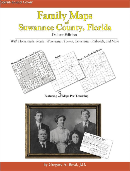 Family Maps of Suwannee County, Florida (Spiral book cover)