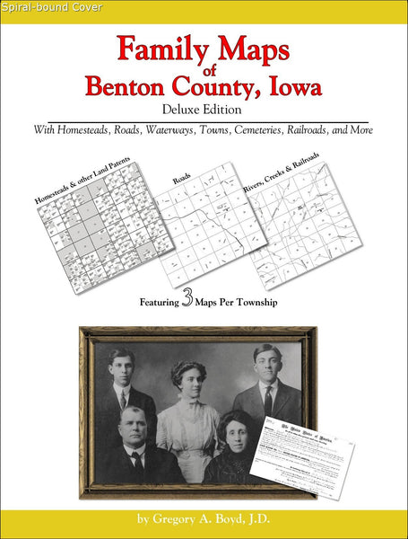Family Maps of Benton County, Iowa (Spiral book cover)