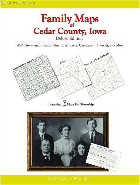 Family Maps of Cedar County, Iowa (Spiral book cover)