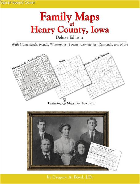 Family Maps of Henry County, Iowa (Spiral book cover)