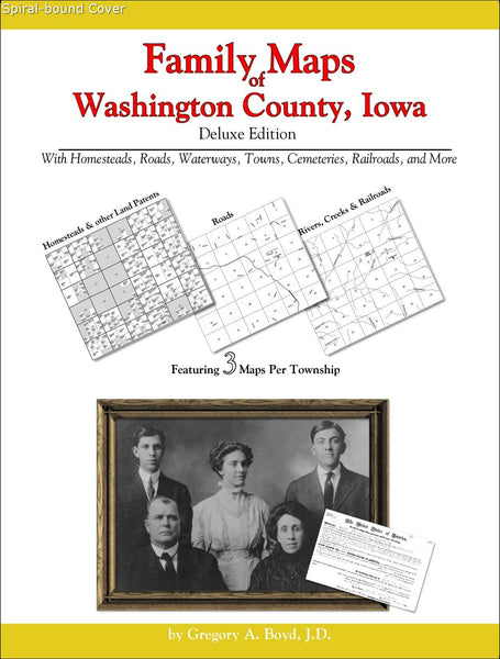 Family Maps of Washington County, Iowa (Spiral book cover)