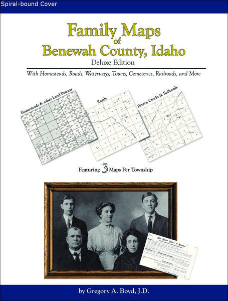 Family Maps of Benewah County, Idaho (Spiral book cover)