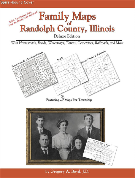Family Maps of Randolph County, Illinois (Spiral book cover)