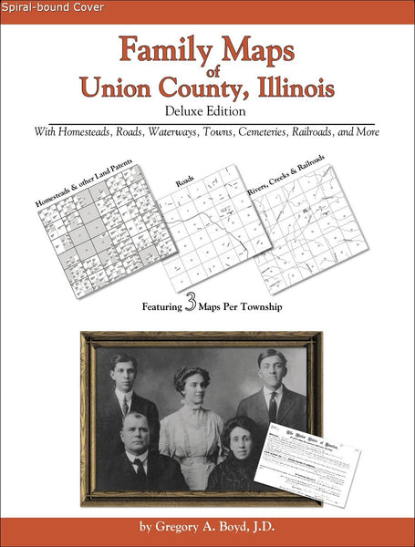 Family Maps of Union County, Illinois (Spiral book cover)