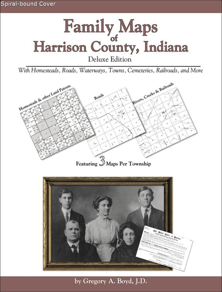 Family Maps of Harrison County, Indiana (Spiral book cover)