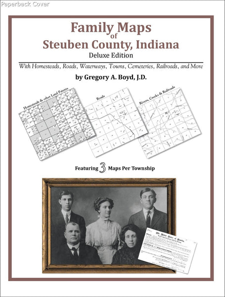 Steuben County Indiana Map.Family Maps Of Steuben County Indiana Arphax Publishing Co