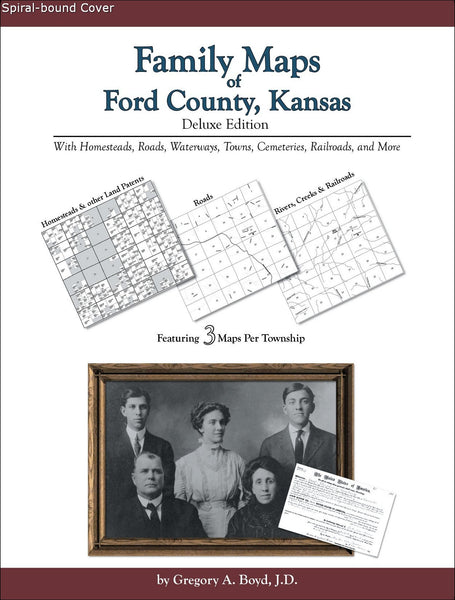 Family Maps of Ford County, Kansas (Spiral book cover)