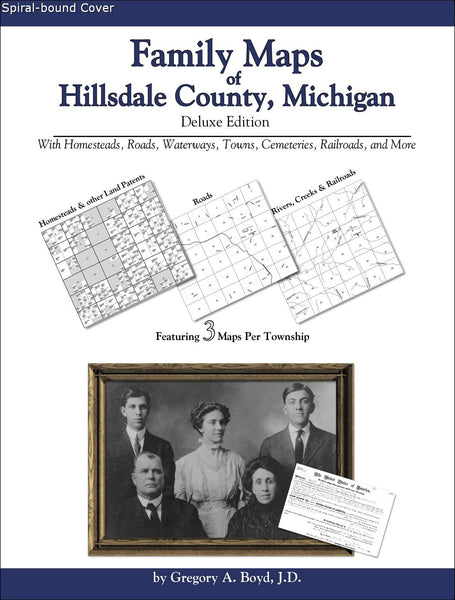 Family Maps of Hillsdale County, Michigan (Spiral book cover)