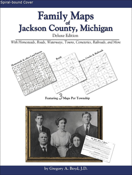 Family Maps of Jackson County, Michigan (Spiral book cover)