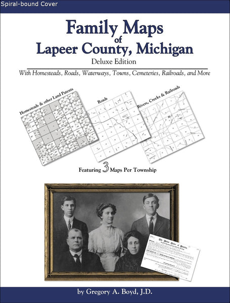 Family Maps of Lapeer County, Michigan (Spiral book cover)