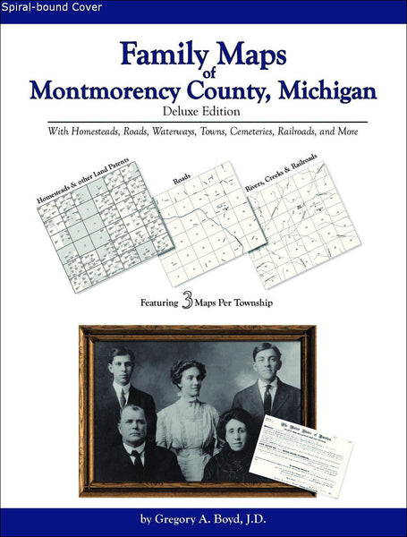 Family Maps of Montmorency County, Michigan (Spiral book cover)