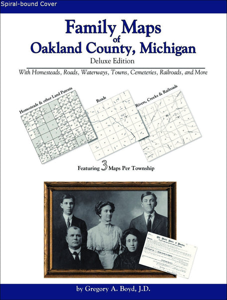 Family Maps of Oakland County, Michigan (Spiral book cover)