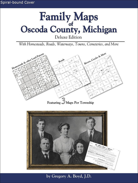 Family Maps of Oscoda County, Michigan (Spiral book cover)