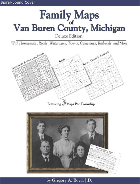 Family Maps of Van Buren County, Michigan (Spiral book cover)