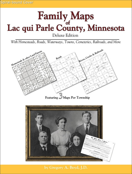 Family Maps of Lac qui Parle County, Minnesota (Spiral book cover)