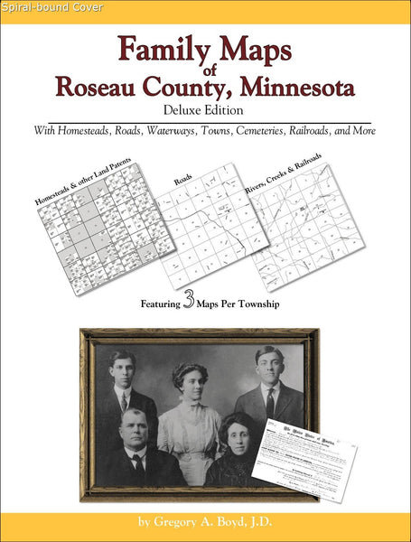Family Maps of Roseau County, Minnesota (Spiral book cover)