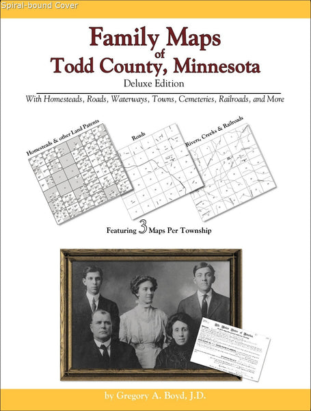 Family Maps of Todd County, Minnesota (Spiral book cover)