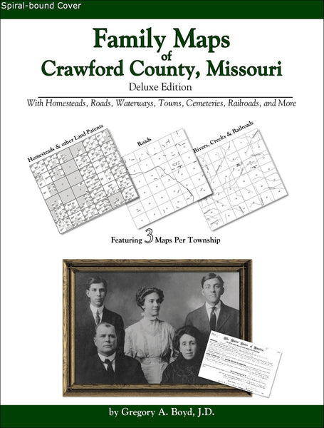 Family Maps of Crawford County, Missouri (Spiral book cover)