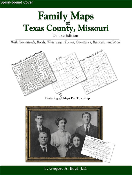 Family Maps of Texas County, Missouri (Spiral book cover)