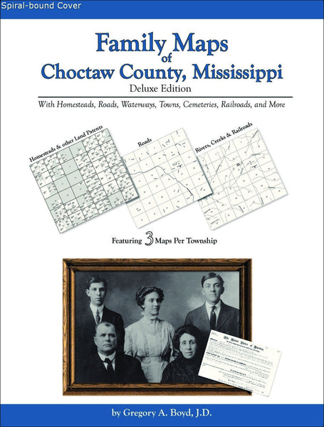 Family Maps of Choctaw County, Mississippi (Spiral book cover)