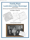 Family Maps of Lauderdale County, Mississippi (Paperback book cover)