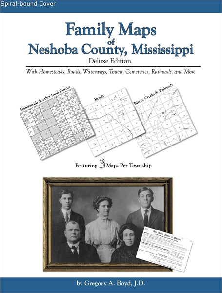 Family Maps of Neshoba County, Mississippi (Spiral book cover)
