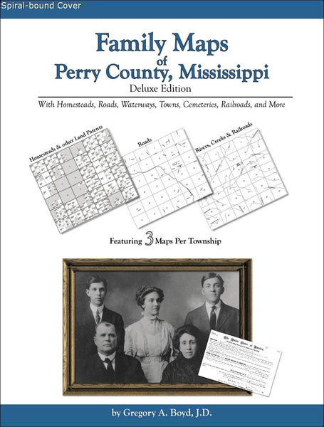 Family Maps of Perry County, Mississippi (Spiral book cover)