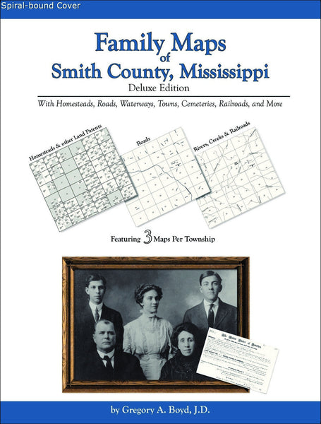 Family Maps of Smith County, Mississippi (Spiral book cover)