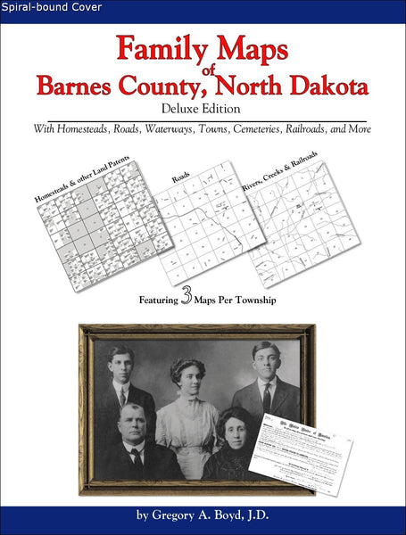 Family Maps of Barnes County, North Dakota (Spiral book cover)