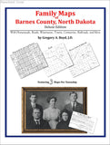 Family Maps of Barnes County, North Dakota (Paperback book cover)