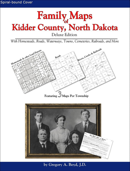 Family Maps of Kidder County, North Dakota (Spiral book cover)