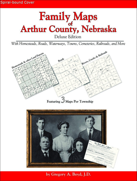 Family Maps of Arthur County, Nebraska (Spiral book cover)