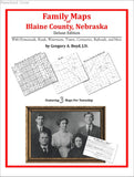 Family Maps of Blaine County, Nebraska (Paperback book cover)