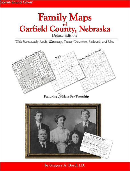 Family Maps of Garfield County, Nebraska (Spiral book cover)