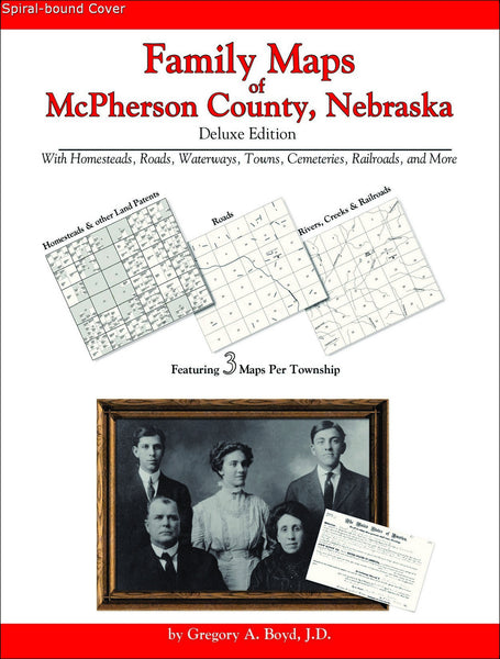Family Maps of McPherson County, Nebraska (Spiral book cover)