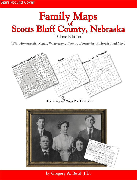 Family Maps of Scotts Bluff County, Nebraska (Spiral book cover)