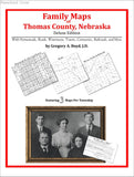 Family Maps of Thomas County, Nebraska (Paperback book cover)