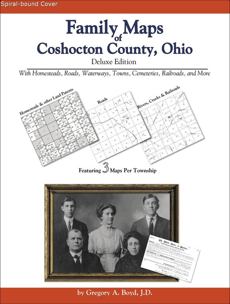 Family Maps of Coshocton County, Ohio (Spiral book cover)