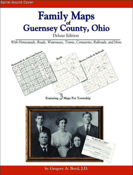 Family Maps of Guernsey County, Ohio (Spiral book cover)
