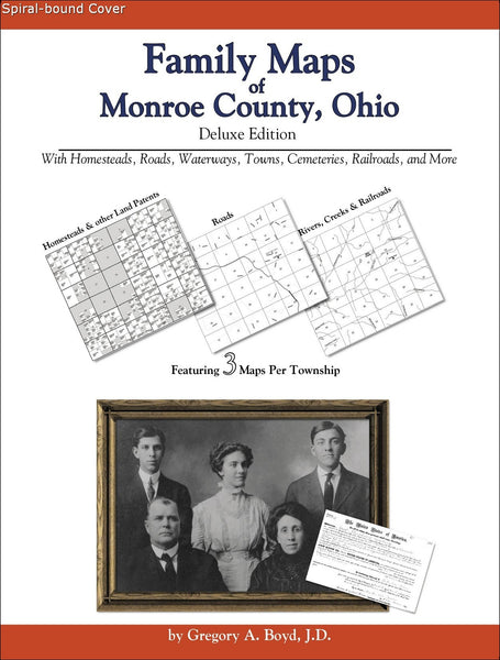 Family Maps of Monroe County, Ohio (Spiral book cover)