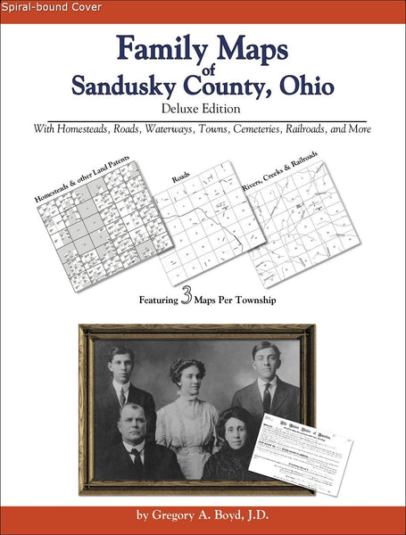 Family Maps of Sandusky County, Ohio (Spiral book cover)