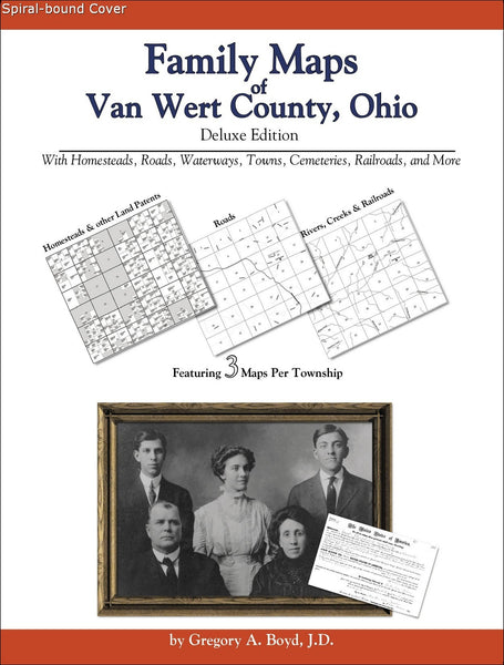 Family Maps Of Van Wert County Ohio Arphax Publishing Co