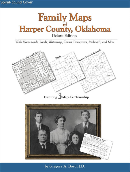 Family Maps of Harper County, Oklahoma (Spiral book cover)
