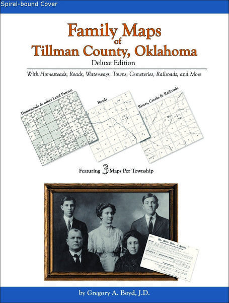 Family Maps of Tillman County, Oklahoma (Spiral book cover)
