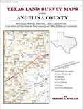 Texas Land Survey Maps for Angelina County (Paperback book cover)