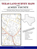 Texas Land Survey Maps for Austin County (Spiral book cover)