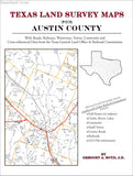 Texas Land Survey Maps for Austin County (Paperback book cover)